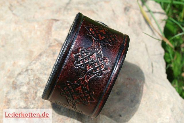 Lederarmband breit  Lederband Armband Wikingerschmuck Armschmuck Stulp - Lederkotten